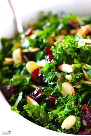 kale and almond salad